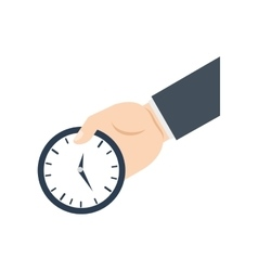 Time traditional clock hand icon graphic vector