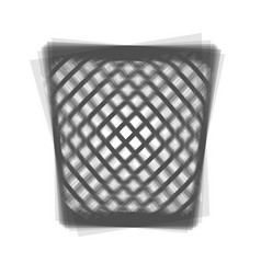 Trash sign gray icon shaked vector