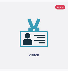 Two color visitor icon from strategy concept vector