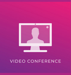 video conference icon vector image