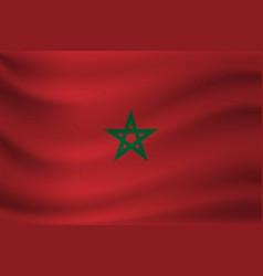 Waving flag morocco vector