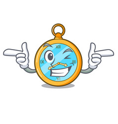 Wink classic watch isolated on a mascot vector