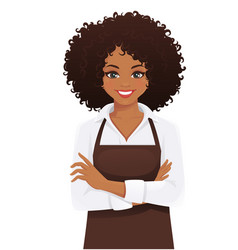 Woman in apron vector