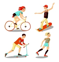 Young Riders Mini Set vector image