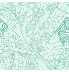 Zentangle abstract hand-drawn background vector
