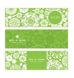 abstract green and white circles horizontal vector image