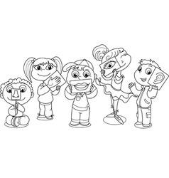 Kids five senses vector image vector image