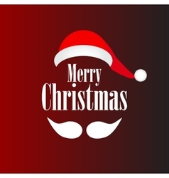 mustache and hat of Santa vector image vector image