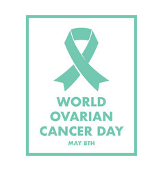 ovarian cancer awareness vector image vector image