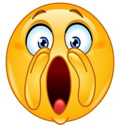 shouting loud emoticon vector image