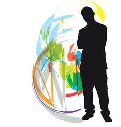 Teenagers vector image vector image