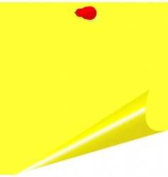 yellow memo stick vector image vector image