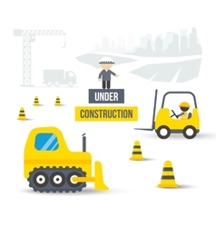 Construction Site Concept of City Building vector image
