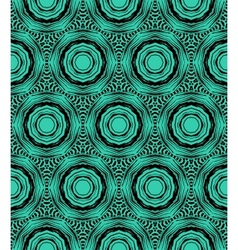Elegant circular pattern in emerald green vector image vector image