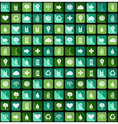 Environmental Green flat icons vector image
