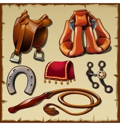 Equipment of the rider sx items vector