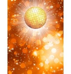 Orange party background vector image vector image