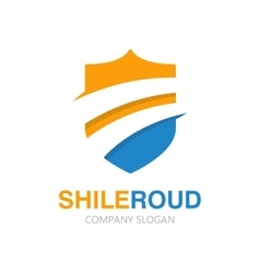 road and shield logo concept vector image vector image