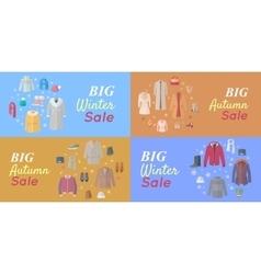 Seasonal Sales Concepts in Flat Design vector image vector image