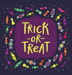 Trick or treat candy card vector image