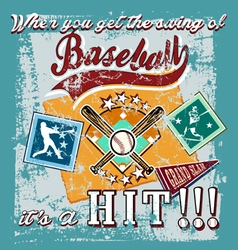 baseball swing vector image vector image