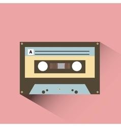 cassette icon design vector image vector image