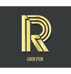 graphic golden symbol letter R vector image