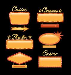 retro gold vintage motel neon sign vector image vector image