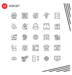 25 universal lines set for web and mobile vector