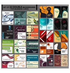 44 Backgrounds for business cards vector