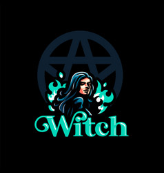 a female witch vector image