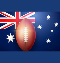 Afl ball and australian flag vector
