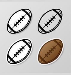 American football symbol stickers set vector