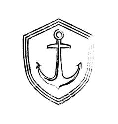 Anchor marine symbol vector