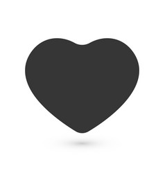 black flat heart love symbol with rounded corners vector image