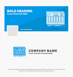 Blue business logo template for controller vector