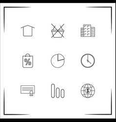 Business icons set outlined linear icons vector