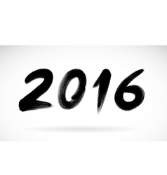 Calligraphy 2016 New Year sign vector image