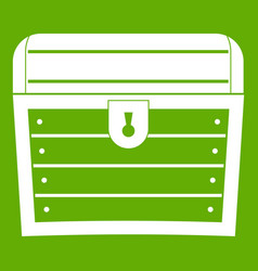 chest icon green vector image