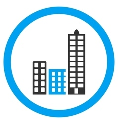 City Rounded Icon vector