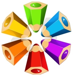 Colour pencils star vector image
