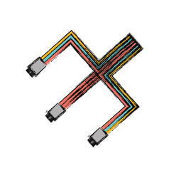 Computer wire technology vector