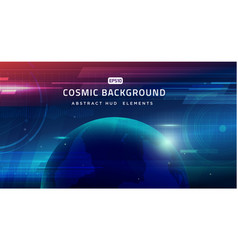 cosmic shining abstract background vector image
