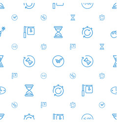 countdown icons pattern seamless white background vector image