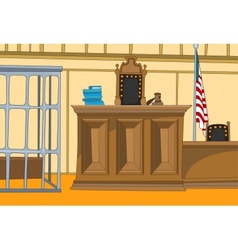 Court Cartoon vector