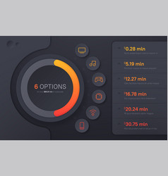 Dark hued presentation infographic template in a vector