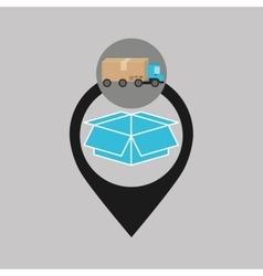 Delivery truck concept box carton icon vector
