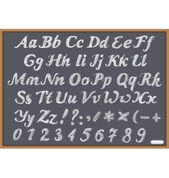 English alphabet letter Latin on chalk Blackboard vector