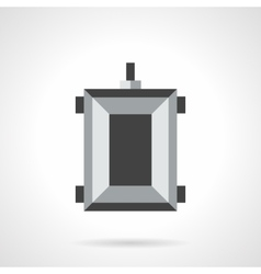 Farming trolley flat color icon vector image