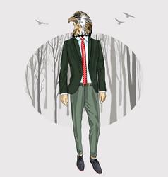 fashion eagle portrait vector image